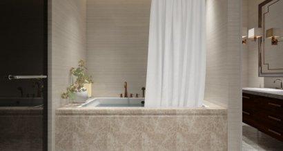 Çağdaş Tarzda Mermer Banyo Örnekleri